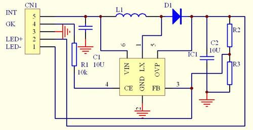 dc-dc升压电路原理图