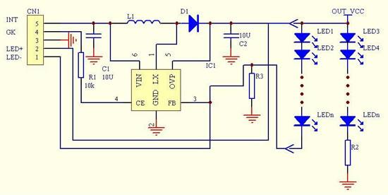 led恒流驱动升压电路原理图
